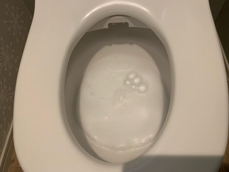 アラウーノにキュキュットを使用しても問題なく激落ちバブルが出ている状態